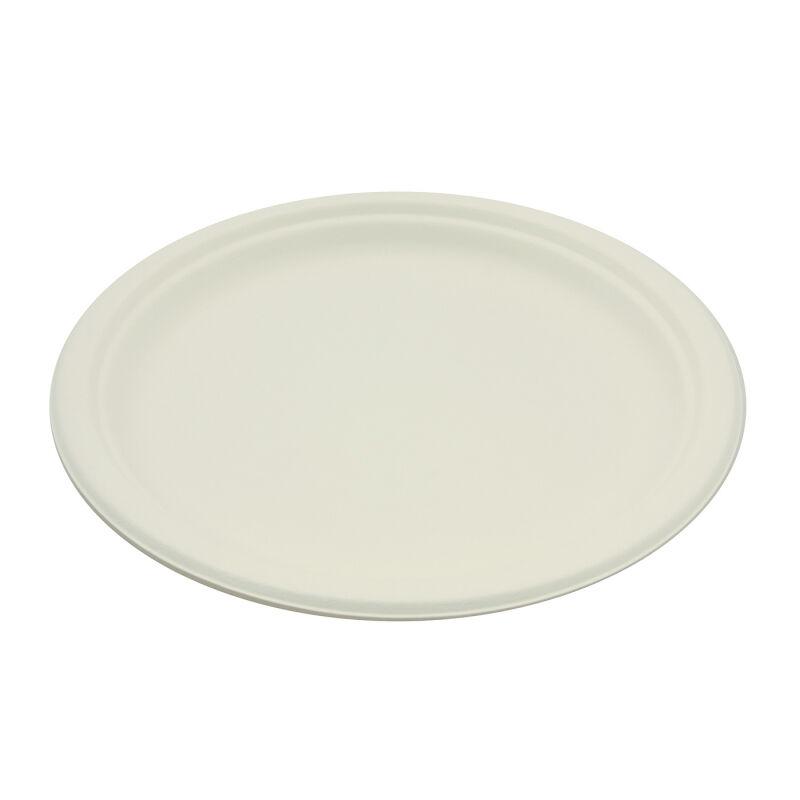 Be Pulp 50 assiettes rondes rigides biodégradables 23 cm