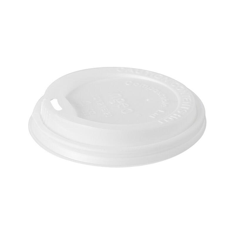 Duni 50 Couvercles en bio-plastique blanc biodégradable pour gobelets 35 cl