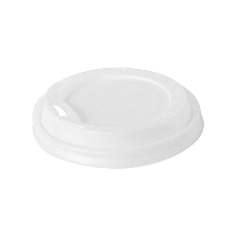 Duni 40 Couvercles en bio-plastique blanc biodégradable pour gobelets 24 cl
