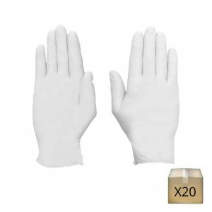 Manufrance x20 Gants jetables latex blancs Manufrance
