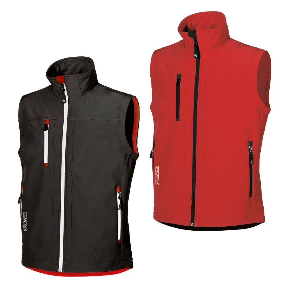 U-Power Gilet de travail Soft Shell avec doublure CLIMB U-Power