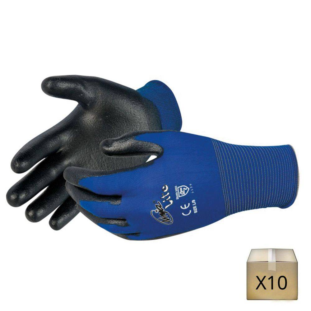 Singer Safety x10 Gants de travail fins jauge 18 Singer Safety