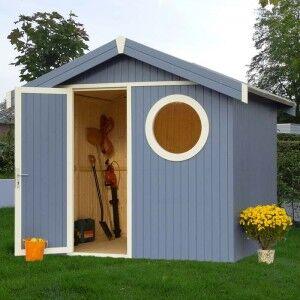 """Abri de jardin Oleron 1 peint - 5.65 m2 - Look """"Côte atlantique"""""""