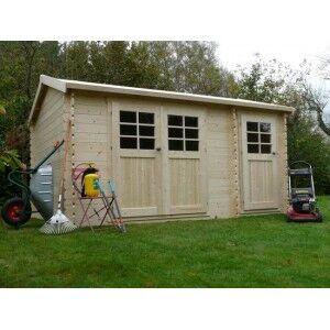 Abri de jardin en bois PASSAGE 12.4 m2 Ep.28 mm