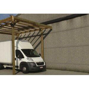 Carport en bois Solid grande hauteur 20,5m²