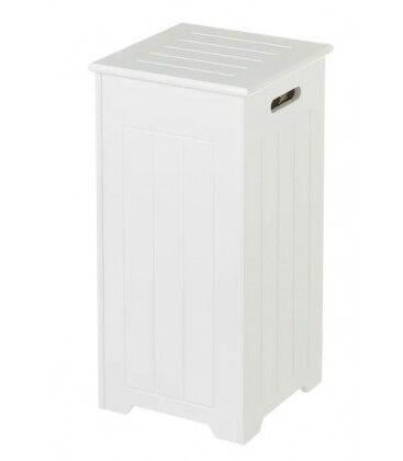 Wadiga Rangement Stock Rouleaux Papier Toilette Bois MDF Blanc - Hauteur 60cm