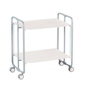 Don Hierro Table Roulante Pliante Blanche et Châssis Gris Aluminium - 3 Positions - Publicité