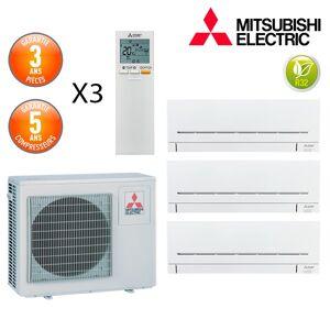 Mitsubishi Tri-split MXZ-3F54VF + 2 X MSZ-AP15VF + 1 X MSZ-AP25VG