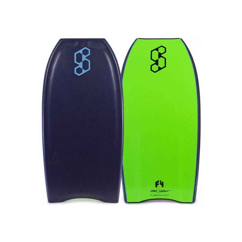 SCIENCE BODYBOARDS SCIENCE Mike Stewart Launch LTD QUAD VENT (PP) - Midnight Blue  / Fluo Green