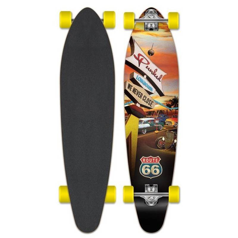 YOCAHER Longskate Cruiser YOCAHER Punked Route-66 Diner Kicktail 38' (96 cm)