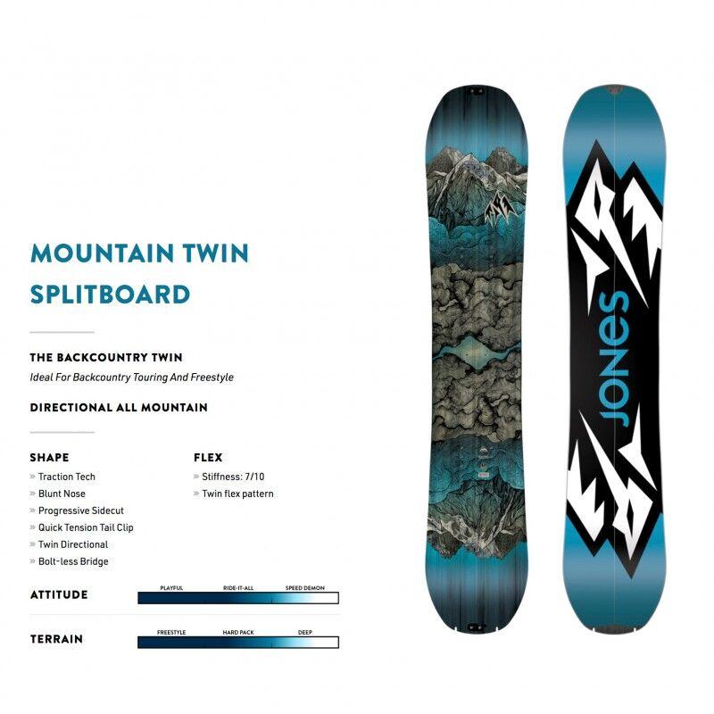JONES SNOWBOARDS Splitboard JONES Mountain Twin Split 2019 - 160cm