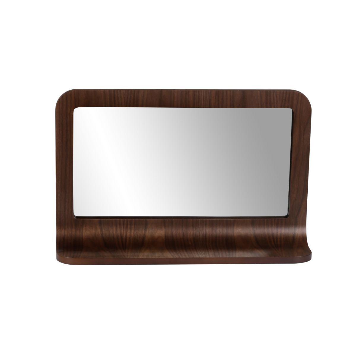 Zago 'Miroir plaqué noyer 72 x 45 cm avec tablette Chill - ZAGO'
