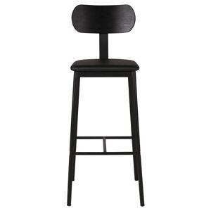 """Zago """"Chaise de bar bois en chêne plaqué et tissu - structure métal Mara - ZAGO"""" - Publicité"""