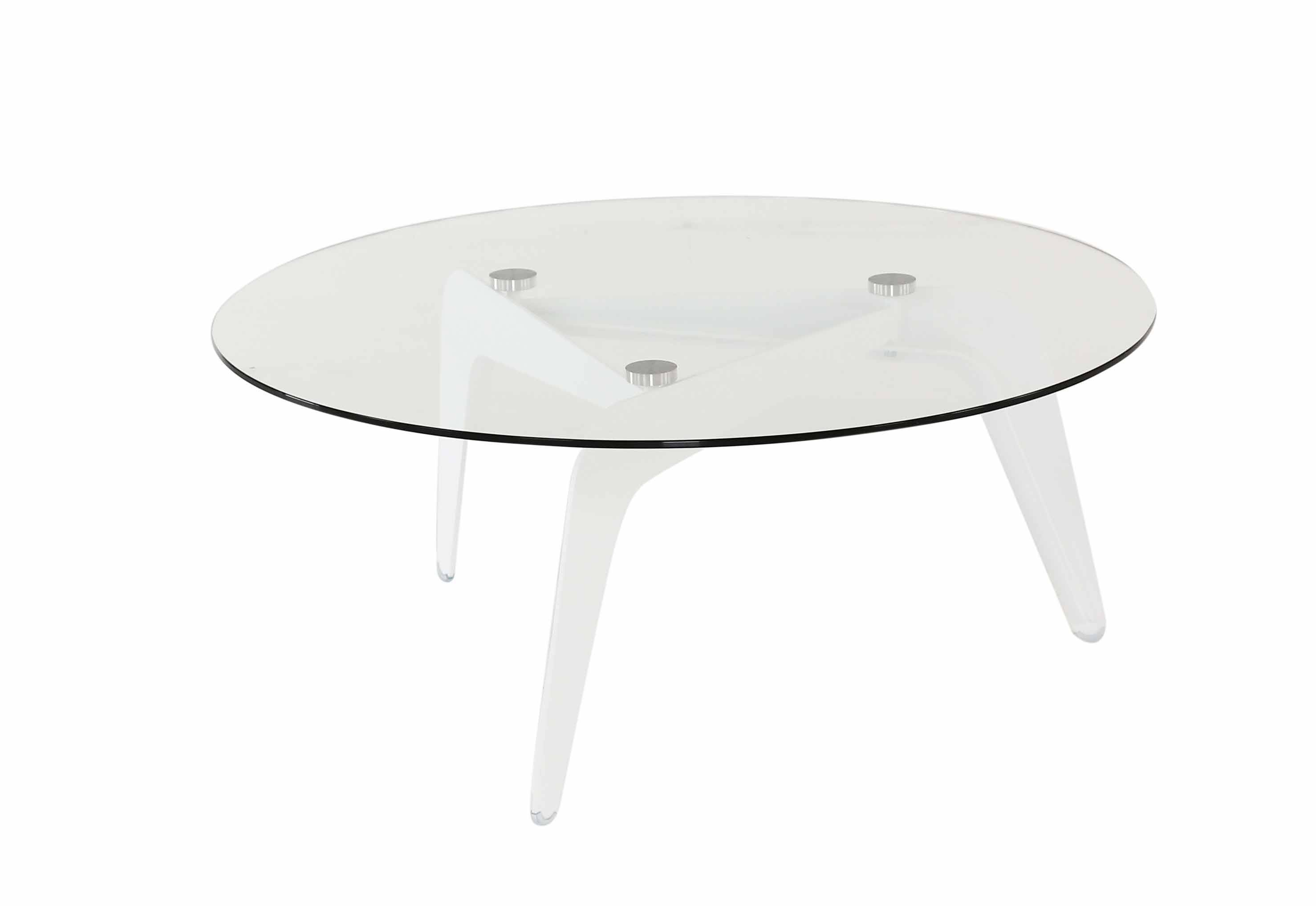 Zago 'Table basse ronde verre et métal Ø96 cm Cald - ZAGO'