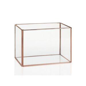 "Zago ""Terrarium verre et cuivre rectangulaire - ZAGO"" - Publicité"