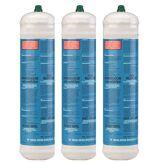 Kemper Bouteille oxygène 110 bar KEMPER Pack x 3 Connexion M10 Soudure bi-gaz Jetable 110 litres