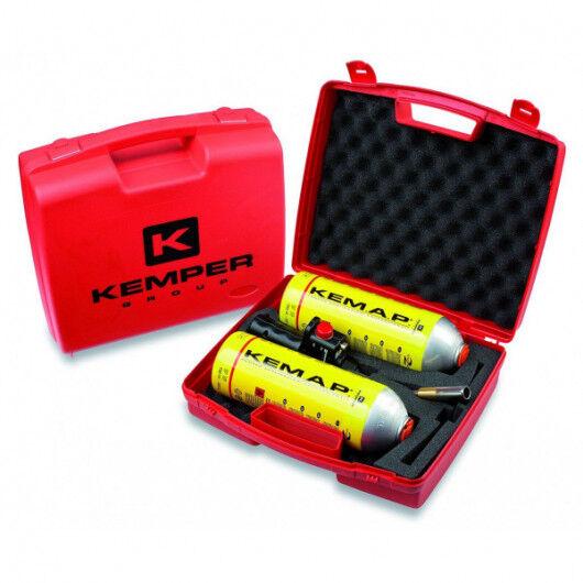 Kemper Chalumeau gaz + 2 bouteilles Propane KEMPER Lampe à souder Professionnelle Kit Mallette
