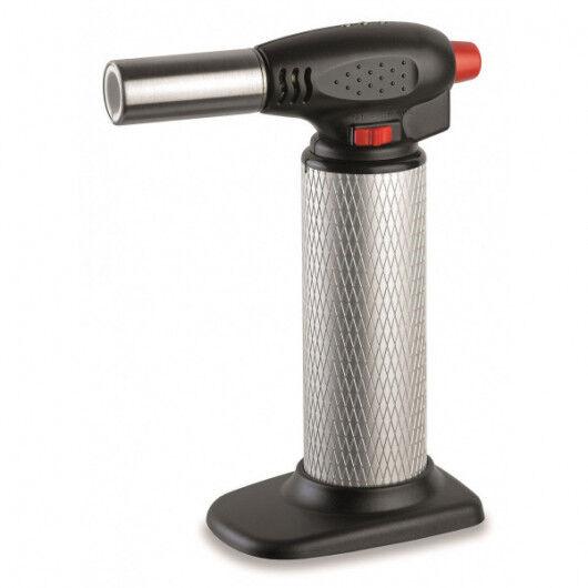 Kemper Chalumeau de cuisine piezo professionnel micro torche gaz rechargeable - toutes positions 360°