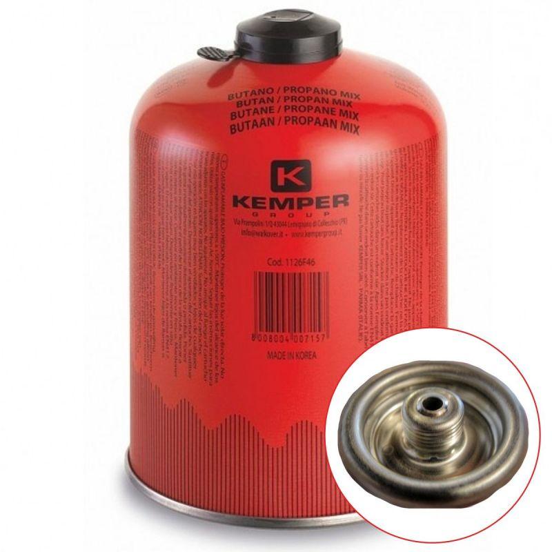Kemper Cartouche gaz 460g butane propane mix KEMPER Bouteille de gaz à valve 7/16 Bonbonne camping EN 417
