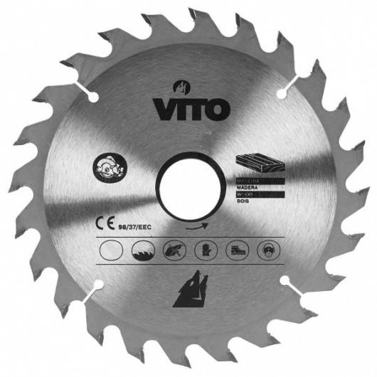 VITO Pro-Power Lame Scie Circulaire BOIS VITOPOWER 16 Dents Diam 140mm Alesage 30mm
