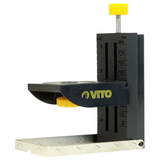 VITO Pro-Power Support niveaux lasers et Appareils photos de table VITO POWER - 11cm -Aimanté - Réglage hauteur ultra précis par molette