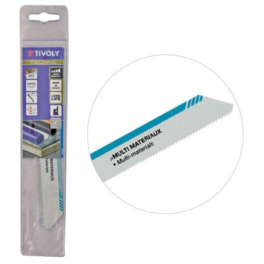 Tivoly Lame de scie sabre Multi Matériaux (lot de 2 ) TIVOLY HSS L150mm coupe tubes, plaques jusqu'à 10cm épaisseur Haute Qualité