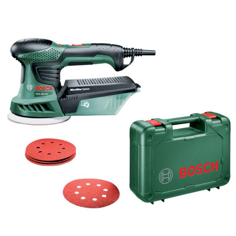 Bosch Ponceuse excentrique filaire Bosch PEX 300 AE -270W Avec Mallette BOSCH + Papier assistant + Papier abrasif G 80