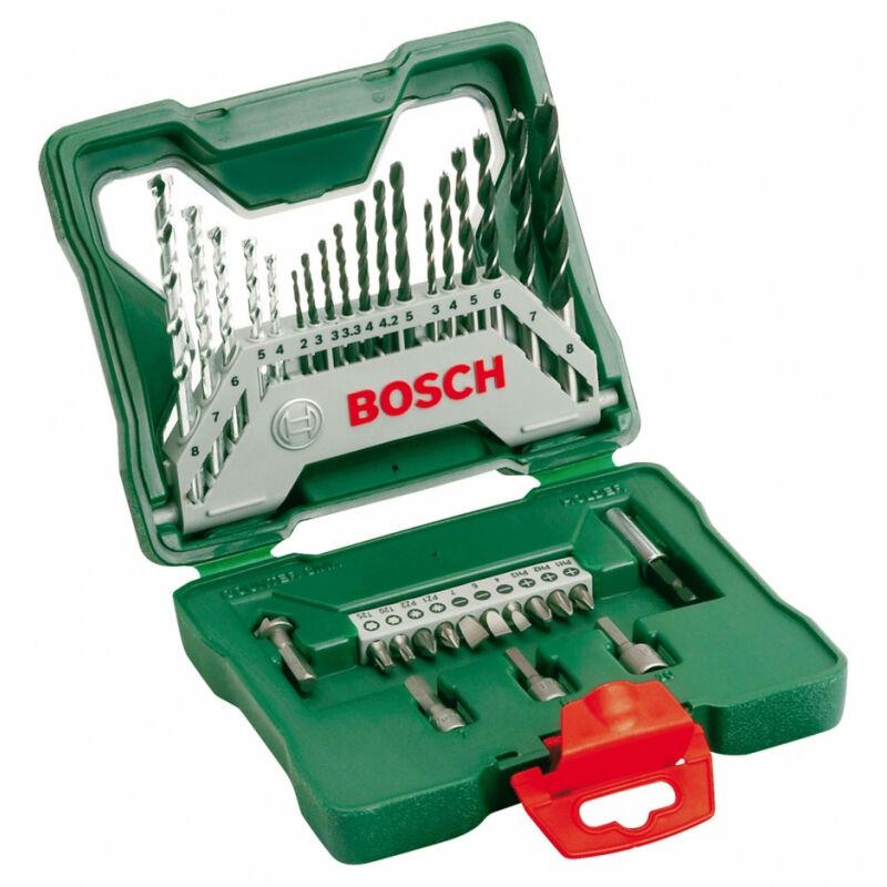 Bosch Coffret 33 pièces Bosch S-line Forêts et embouts métal , Pierre , bois , Brique