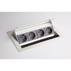 hjh OFFICE PRO ELDOSE 1   Bloc multiprises (montage incl.)   4 x prises de courant - Argent - Publicité