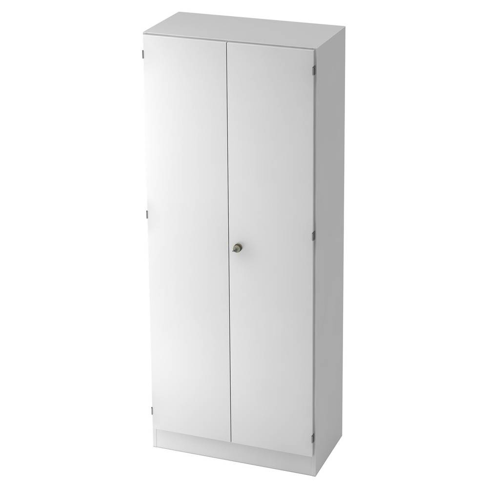 hjh OFFICE PRO SIGNA K 6100 SG - Blanc avec bouton (verrouillable) Armoire