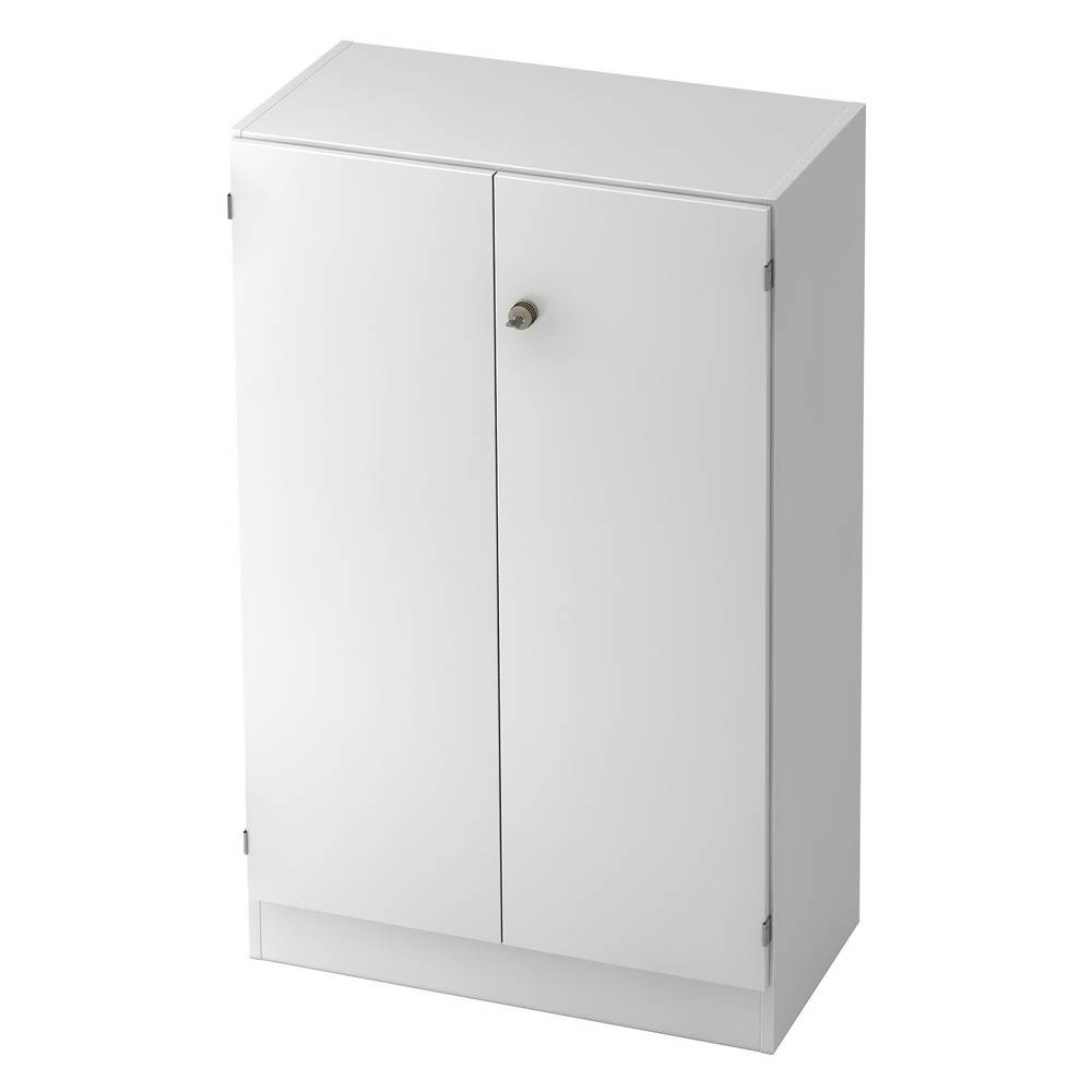 hjh OFFICE PRO SIGNA K 6550 SG - Blanc avec bouton (verrouillable) Armoire