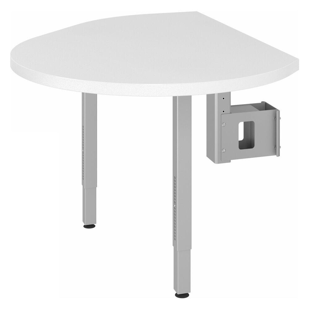 hjh OFFICE PRO LA92 C   Plateau de fixation avec console et 2 pieds de support inclus - Blanc/Argent