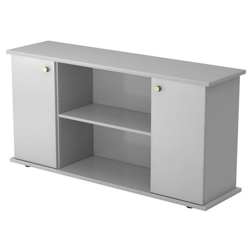 hjh OFFICE PRO KAPA SB   Sideboard   avec portes - Gris avec bouton Buffet