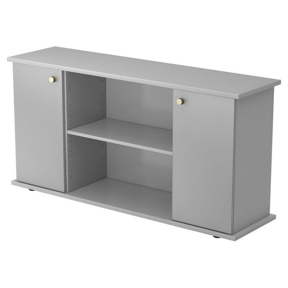 hjh OFFICE PRO KAPA SB   Sideboard   avec portes - Gris/Argent avec bouton Buffet