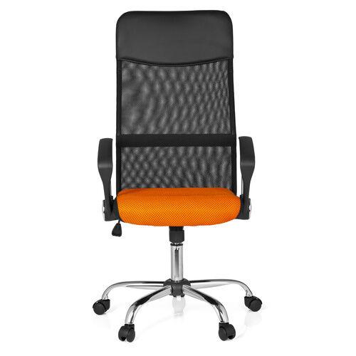 hjh OFFICE ORION NET - Siège de bureau à domicile Noir / Orange