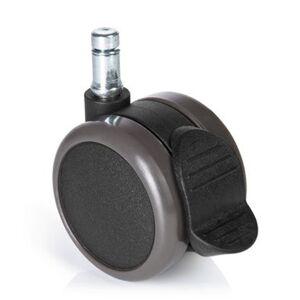 hjh OFFICE 5x ROLO STOP 11mm/65mm - Roulettes Noir - Publicité
