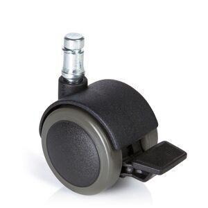 hjh OFFICE 5x ROLO STOP 11mm/50mm - Roulettes Noir - Publicité