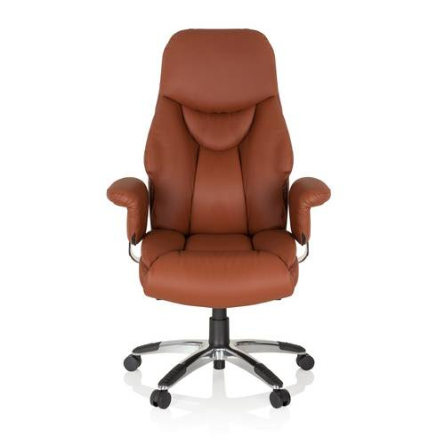 hjh OFFICE PRADO simili-cuir/synthétique - Siège de direction de luxe Marron