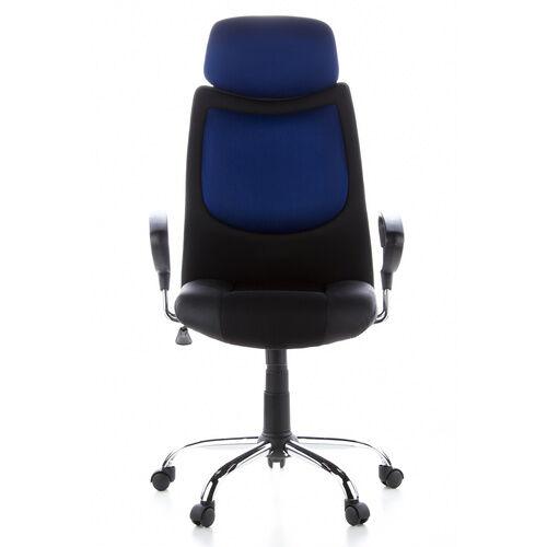 hjh OFFICE CITY 80 - Siège de direction pour bureau à domicile Noir / Bleu