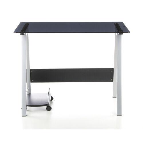 hjh OFFICE DELPHI   100x70 - Bureau multimédia noir / aluminium