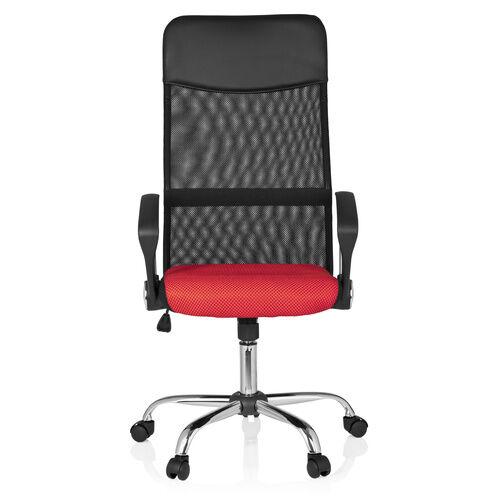hjh OFFICE ORION NET - Siège de bureau à domicile Noir / Rouge