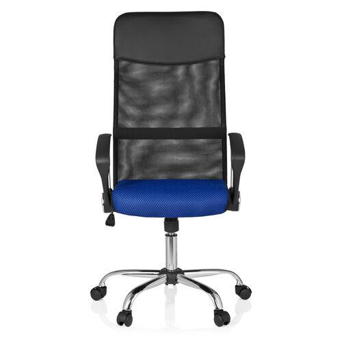 hjh OFFICE ORION NET - Siège de bureau à domicile Noir / Bleu