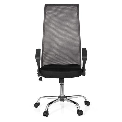 hjh OFFICE KIO NET 200 - Siège de direction pour bureau à domicile Noir / gris foncé