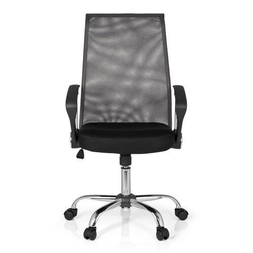 hjh OFFICE KIO NET 100 - Siège de bureau à domicile Noir / gris foncé