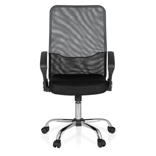 hjh OFFICE FOLEY NET - Siège de bureau à domicile Noir / gris foncé