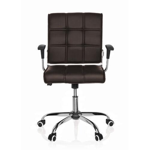 hjh OFFICE ERNESTO - Siège de bureau à domicile brun foncé