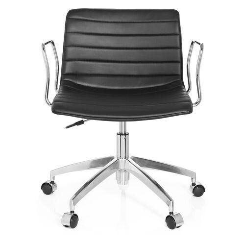 hjh OFFICE LEVI - Siège de bureau à domicile Noir