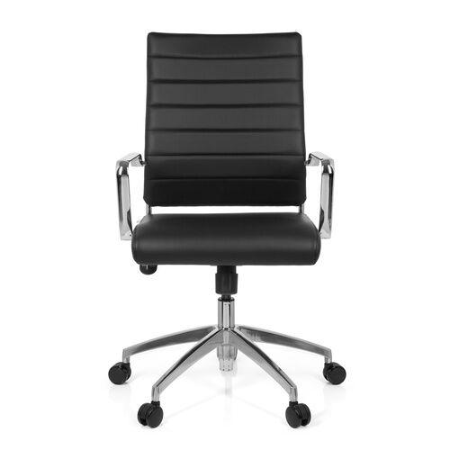 hjh OFFICE PONTERA - Siège de bureau à domicile Noir