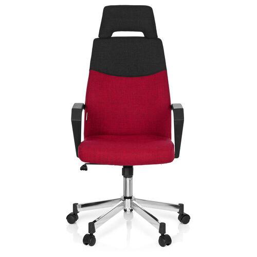 hjh OFFICE ROYAL PRO - Siège de bureau à domicile gris /rouge