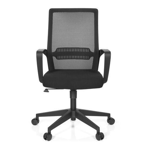 hjh OFFICE PRESTON - Siège de bureau à domicile Noir